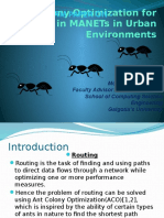 Ant Colony Optimization Algorithm Routing for MANET in Urban Environments
