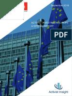 Activist Investing in Europe October 2016