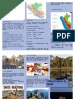 Triptico-conociendo El Perú _ Imformatica Asignacion