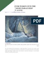 Sleeping Paralysis