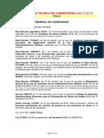 (MINISTERIO de FOMENTO)-Listado de Normativa Tecnica de Carreteras-A Mayo 2016