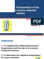 The Effects of Temperature on the Rate of Enzyme Activity