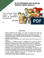 Propuesta Plan de Actividades Curso 2016-17