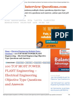 100 TOP MOST POWER PLANT Engineering - Electrical Engineering Objective Type Questions and Answers Electrical Engineering Multiple Choice Questions.pdf