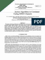 Antenna Selection Algorithms in Correlated