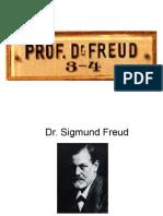 Dr. Sigmund FreudSigmund Freuda (Príbor, 6 de mayo de 1856-Londres, 23 de septiembre de 1939) fue un médico neurólogo austriaco de origen judío, padre del psicoanálisis y una de las mayores figuras intelectuales del siglo XX.1  Su interés científico inicial como investigador se centró en el campo de la neurología, derivando progresivamente hacia la vertiente psicológica de las afecciones mentales, investigaciones de las que daría cuenta en la casuística de su consultorio privado. Estudió en París, con el neurólogo francés Jean-Martin Charcot, las aplicaciones de la hipnosis en el tratamiento de la histeria. De vuelta a la ciudad de Viena y en colaboración con Josef Breuer desarrolló el método catártico. Paulatinamente, reemplazó tanto la sugestión hipnótica como el método catártico por la asociación libre y la interpretación de los sueños. De igual modo, la búsqueda inicial centrada en la rememoración de los traumas psicógenos como productores de síntomas fue abriendo paso al desarroll