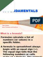 Functions & Formulas