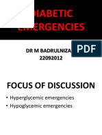 Diabetic Emergencies September 2012