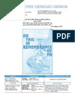 St. Timothy Parish Bulletin – June 6th, 2010