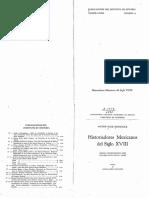 Rico (1949) Historiadores Mexicanos Del Siglo XVIII