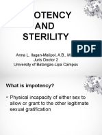 Legal Medicine report on impotency and sterility