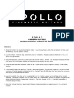 Apollo Cinematic Guitars - Install Instructions