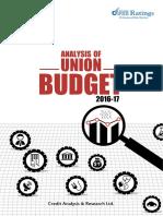 Analysis of Union Budget 2016-17