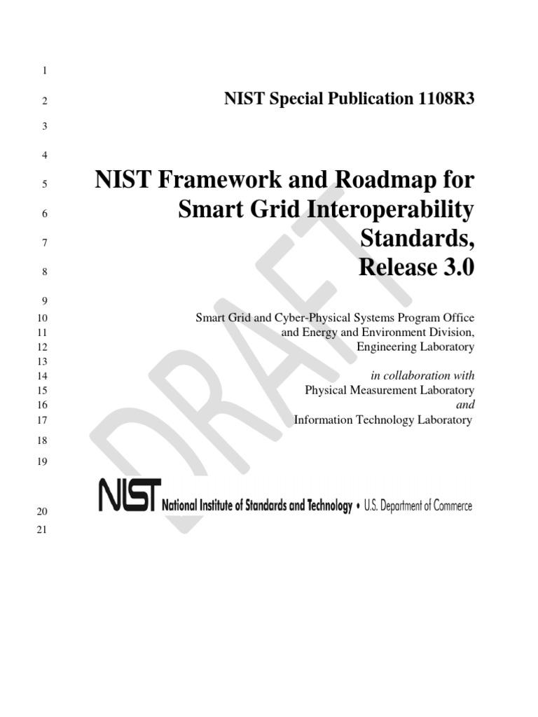 Draft Nist Sg Framework 3 Smart Grid Electrical Cat 3046 Engine Diagram