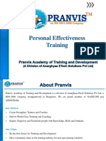 Pranvis Personal Effectiveness Training