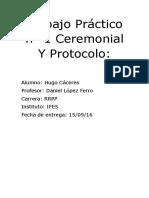 Trabajo Práctico Nº 1 Ceremonial Y Protocolo