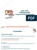 2014 Timesfm Program Profile