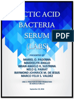 Lactic Acid Bacteria Serum (LABS)