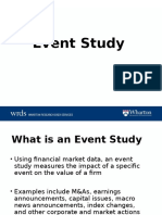 Investments Event Study Slide