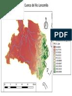 Mapa de La Cuenca Del Rio Loncomilla