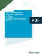 The Total Economic Impact™ Of Imanami GroupID