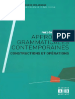 Approches Grammaticales Contemporaines - Académia