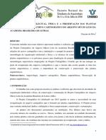 A organização intelectual, física e a preservação das plantas arquitetônicas do acervo cartográfico do Arquivo Múcio Leão da Academia Brasileira de Letras