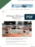 DJI Phantom Diferenças Entre o Phantom 4 e 3