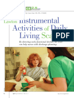 Lawton Activities Daily Living Scale