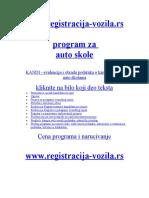 program za auto skole