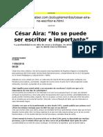 Cesar Aira en Bolivia