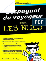 L'Espagnol Du Voyageur Pour Les Nuls - Terradas,David