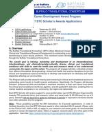 Application for 2017 BTC Scholars Award
