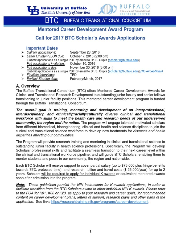 application for 2017 btc scholars award | national institutes of