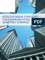 Effective Media Strategies for Communicating Quarterly Earnings