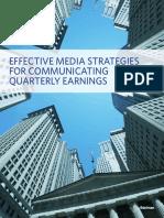 Effective Media Strategies for Communicating Quarterly Earnings