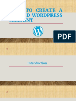How to Create a Hosted Wordpress