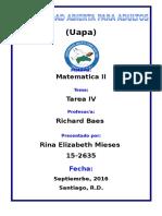 Tarea IV Matematica II Rina