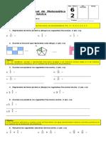 Prueba Fracciones y Decimales