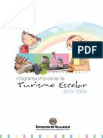 Programa de Turismo Escolar 2014 - 2015