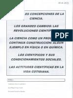 Tema 1 Principales Concepciones de La Ciencia