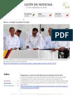 Boletín de noticias KLR 27SEP2016