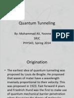 Quantum Tunneling (1)
