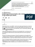 La Joven Que Denunció Haber Sido Violada en Bembibre (León) Admite Que Mintió