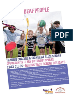 Holiday Clubs for Young Deaf People Poster