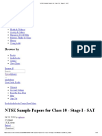 NTSE Sample Papers for Class 10 - Stage I - SAT.pdf