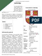 Universidad de Cambridge - Wikipedia, La Enciclopedia Libre