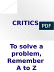 A to Z to Problem Solving Techniques