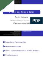 Polos e  Zeros
