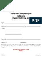 Supplier ISO-TS16949 Checklist-Rev.1